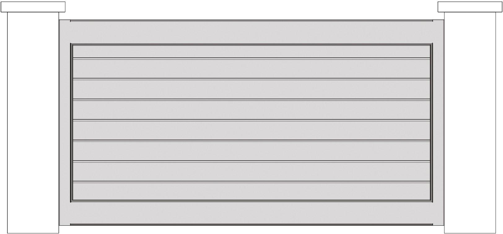 Schéma de clôture horizontale pleine