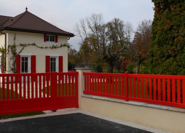 Portail et clôture rouge saint cloud