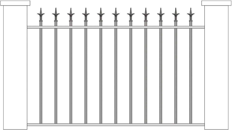 Schéma de clôture avec pointe