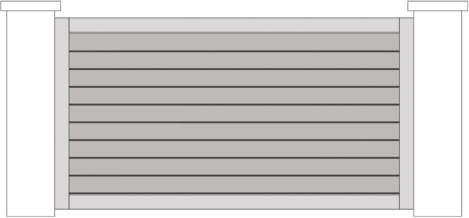 Clôture horizontale schéma